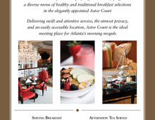 Promotional Materials for St. Regis Atlanta