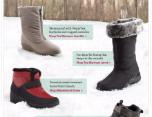 Holiday Hot Picks: Winter Boots Email